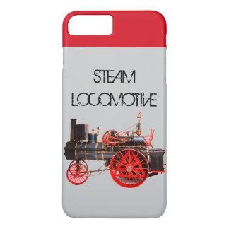 VINTAGE STEAM LOCOMOTIVE Red Grey iPhone 8 Plus/7 Plus Case