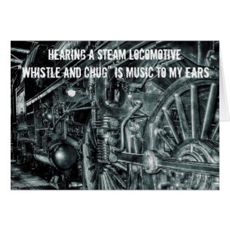Vintage Steam Locomotive Whistle & Chug Card