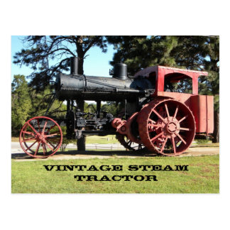 Vintage Steam Tractor - In Color. Postcard
