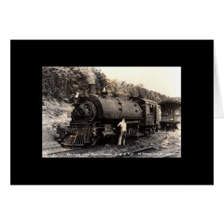 Vintage-Steam Train Card-All Occasion Card