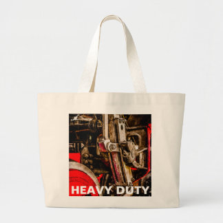 Vintage Steam Train - Driving Gear Large Tote Bag