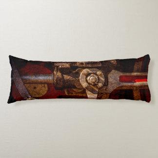 Vintage steam train gear body pillow
