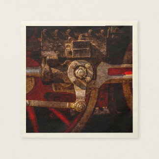 Vintage steam train gear paper napkins