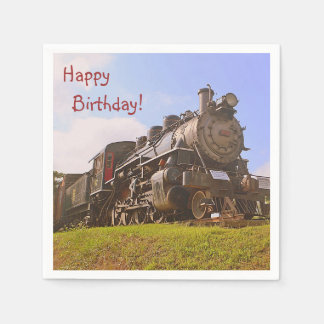 Vintage Steam Train Paper Napkin