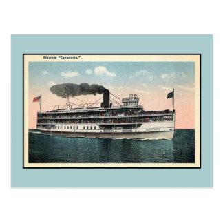 Vintage steamer Canadania Postcard
