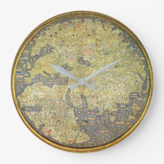 "Vintage Steampunk ""Antique Map"" Wall Clock"
