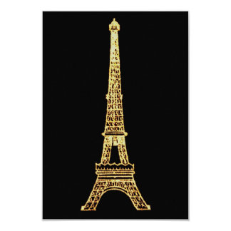 Vintage Steampunk French Chic Paris Eiffel Tower Card
