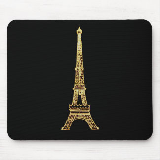 Vintage Steampunk French Chic Paris Eiffel Tower Mouse Pad
