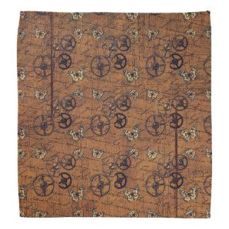 Vintage Steampunk Gears Wallpaper Bandanas