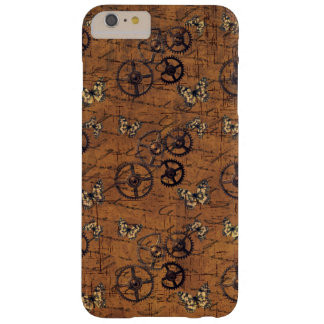 Vintage Steampunk Gears Wallpaper Barely There iPhone 6 Plus Case
