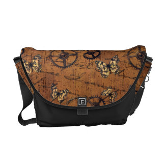 Vintage Steampunk Gears Wallpaper Commuter Bag