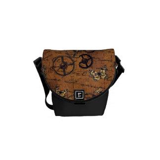 Vintage Steampunk Gears Wallpaper Commuter Bags