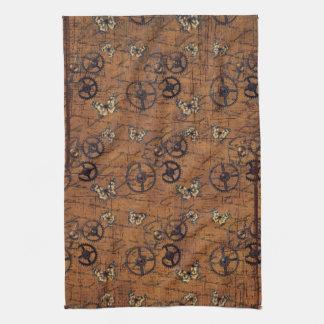 Vintage Steampunk Gears Wallpaper Kitchen Towel