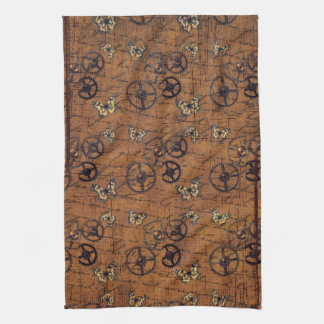 Vintage Steampunk Gears Wallpaper Kitchen Towels