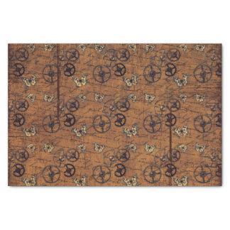 Vintage Steampunk Gears Wallpaper Tissue Paper