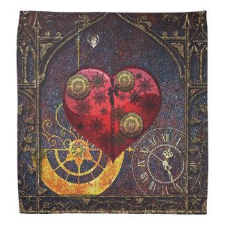 Vintage Steampunk Hearts Wallpaper Bandannas