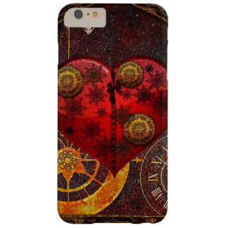 Vintage Steampunk Hearts Wallpaper Barely There iPhone 6 Plus Case