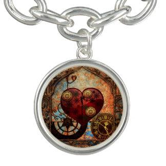Vintage Steampunk Hearts Wallpaper Bracelet