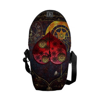 Vintage Steampunk Hearts Wallpaper Commuter Bags