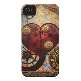 Vintage Steampunk Hearts Wallpaper iPhone 4 Case-Mate Cases