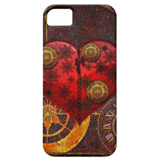 Vintage Steampunk Hearts Wallpaper iPhone 5 Covers