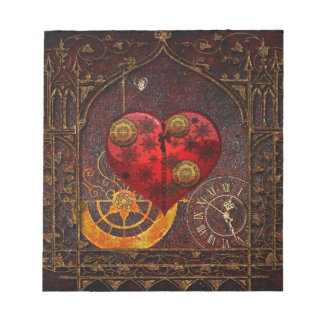 Vintage Steampunk Hearts Wallpaper Notepads