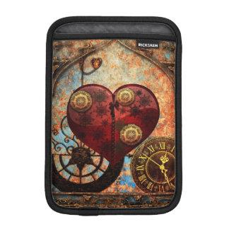Vintage Steampunk Hearts Wallpaper Sleeve For iPad Mini