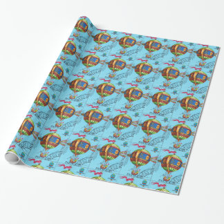 Vintage Steampunk Hot Air Balloon Wrapping Paper