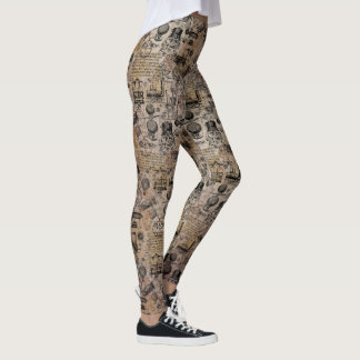 Vintage Steampunk Leggings