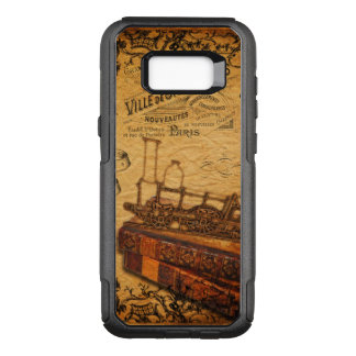 Vintage Steampunk Train Wallpaper OtterBox Commuter Samsung Galaxy S8+ Case