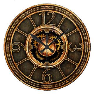 Vintage Steampunk v2 Large Clock