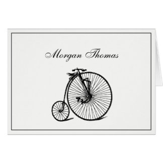 Vintage Steampunk Velocipede Bicycle Bike Card