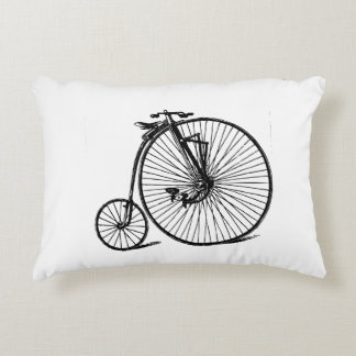 Vintage Steampunk Velocipede Bicycle Bike Decorative Pillow