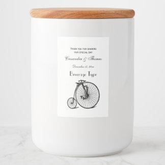 Vintage Steampunk Velocipede Bicycle Bike Food Label
