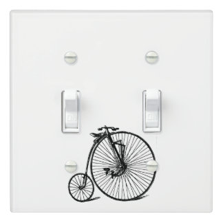 Vintage Steampunk Velocipede Bicycle Bike Light Switch Cover