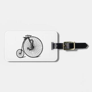 Vintage Steampunk Velocipede Bicycle Bike Luggage Tag