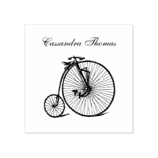 Vintage Steampunk Velocipede Bicycle Bike Rubber Stamp