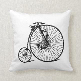 Vintage Steampunk Velocipede Bicycle Bike Throw Pillow