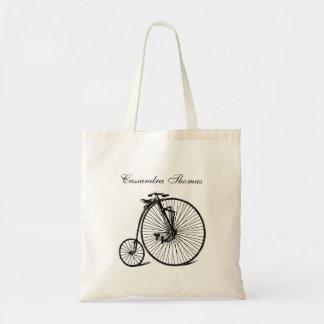Vintage Steampunk Velocipede Bicycle Bike Tote Bag