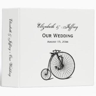 Vintage Steampunk Velocipede Bicycle Bike Vinyl Binders