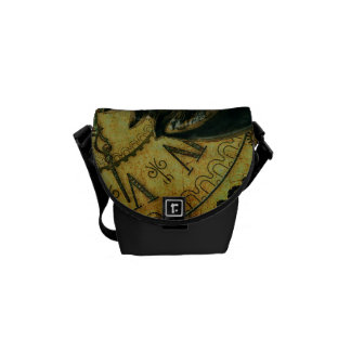 Vintage Steampunk Wallpaper Courier Bags