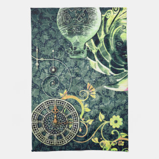 Vintage Steampunk Wallpaper Hand Towels