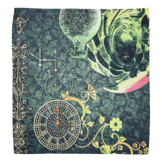 Vintage Steampunk Wallpaper Head Kerchief