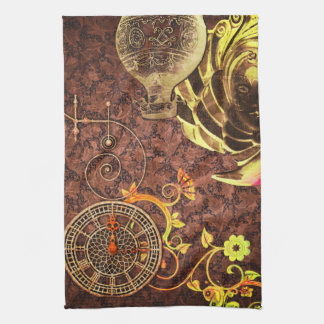 Vintage Steampunk Wallpaper Kitchen Towels