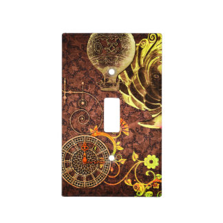 Vintage Steampunk Wallpaper Light Switch Cover