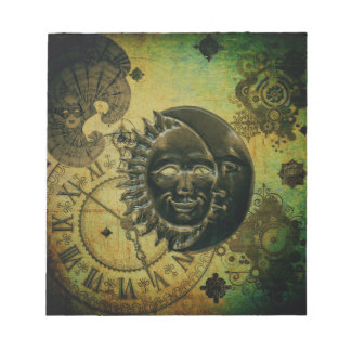 Vintage Steampunk Wallpaper Notepad