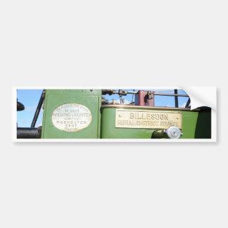 Vintage Steamroller Bumper Sticker