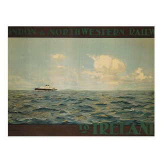 Vintage, Steamship at sea Postcard