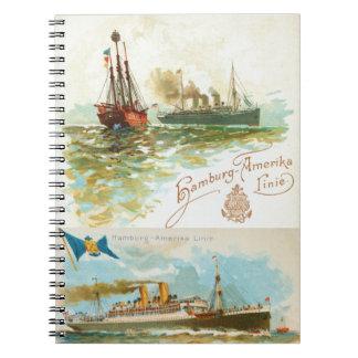 Vintage Steamships Notebook