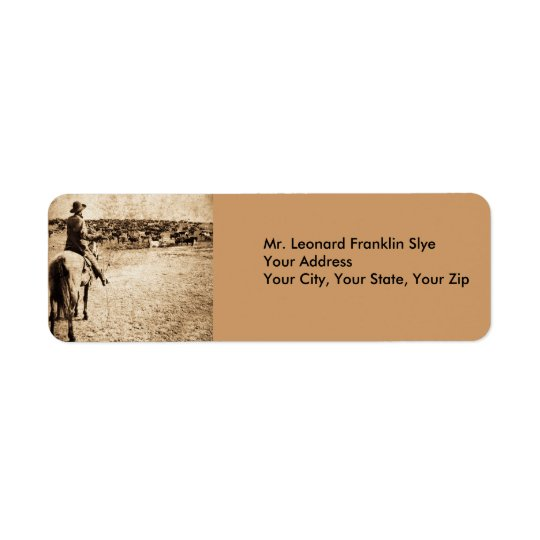 Vintage Stereoview Card - Home on the Range Return Address Label